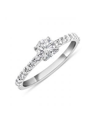 Bague diamant solitaire.