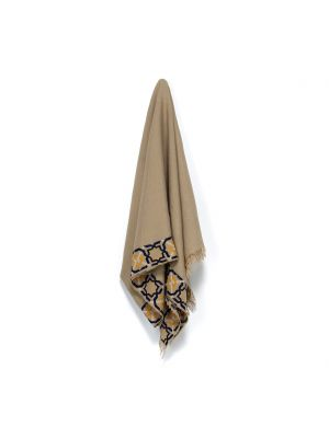 Beige Linen Shawl, half-Alhambra®, Portofino