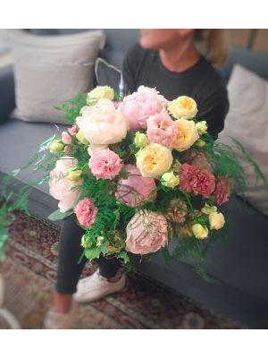 bouquet rond pastel - Fleuriot