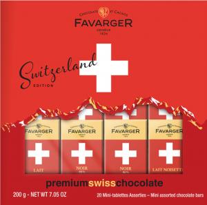 Ass. mini tablette croix suisse 200g