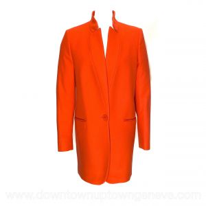 Stella McCartney long jacket in orange wool/cashmere blend