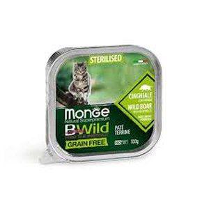 Monge Cat Bwild GF Sterilised Boar 100g