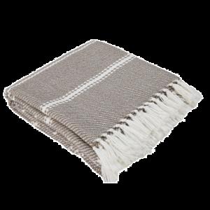Weaver Green Blanket - Monsoon Oxford Stripe