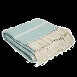 Weaver Green Blanket - Teal Oxford Stripe