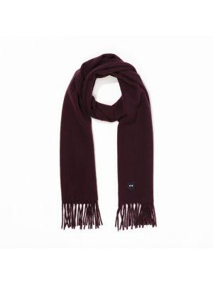 Écharpe bordeaux rectangulaire en laine vierge