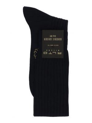 Chaussettes longues en laine côtelée