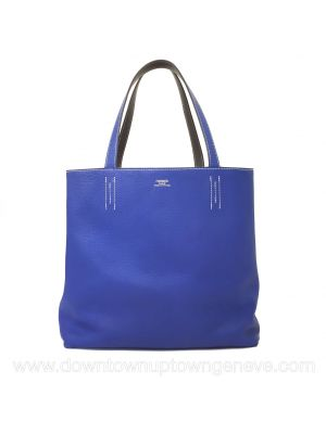 Hermès Double Sens 36 (MM) bag in blue and grey