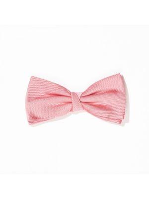 Nœud papillon rose en tricot de soie