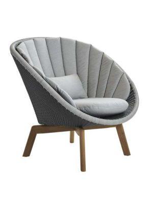 Cane-Line Peacock lounge chair light grey