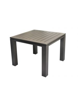 Proloisirs - Latino table 98cm gris brossé