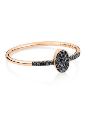 Bague en or rose Sequin Black Diamond Ring