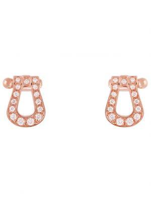 Boucles d'oreilles en or rose et diamants Force 10