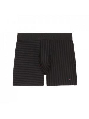 Boxer noir stretch texturé