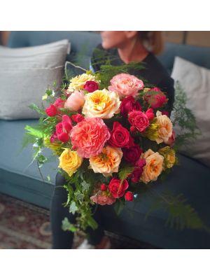 bouquet rond coloré - Fleuriot