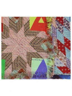 Carré de soie imprimé patchwork Aloeuw