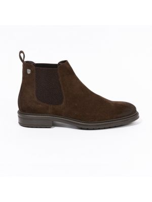 Chelsea boots marrons en daim velours