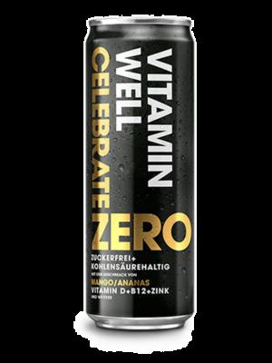 VITAMIN WELL ZERO CELEBRATE Can 355ml (Pack of 24 pcs)