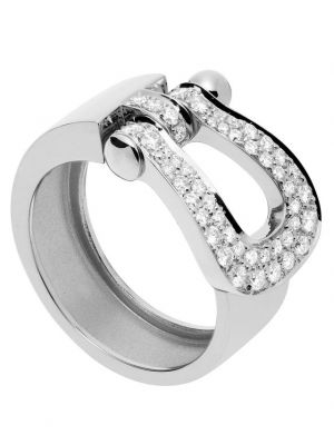 Bague Force 10 Grand Modèle en or blanc et diamants