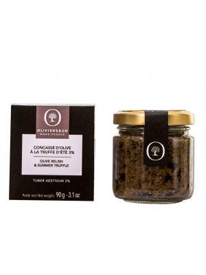 Concassé d'Olive à la truffe d'été (Tuber aestivum vitt 3%) - pot