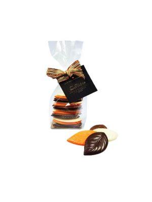 Feuilles d'automne en chocolat