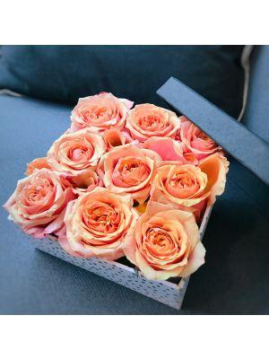boîte de roses 'Cherry Brandy' - Fleuriot