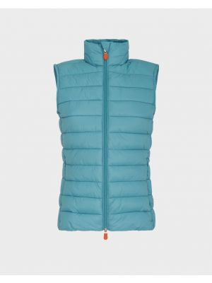 SAVE THE DUCK Gilet vegan matelassé en vert agate