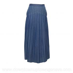 Loro Piana skirt in blue pleated cotton