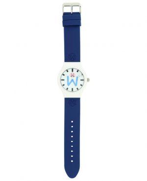 Montre à bracelet en silicone bleu Bombay