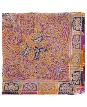 Foulard carré en mousseline de soie imprimée Bombay