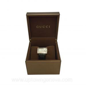 Gucci G ladies silvertone watch