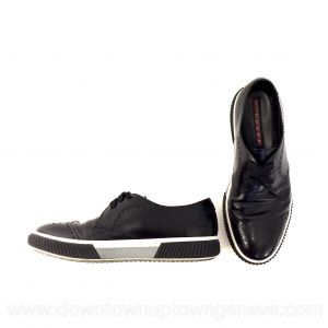 Prada loafers in black leather