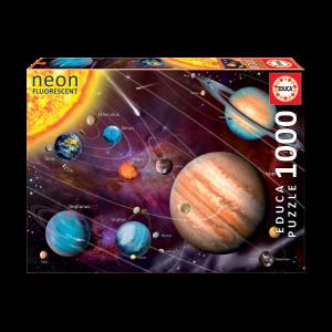 Puzzle Phosphorescent 1000 pcs - Système Solaire