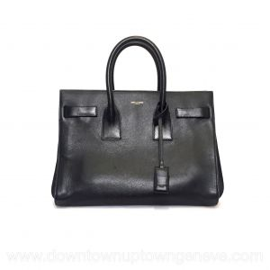Saint Laurent Sac de Jour bag in black leather