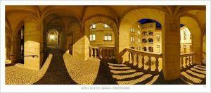 cartes postales panoramiques (lot de 10) - Hôtel de Ville, Genève