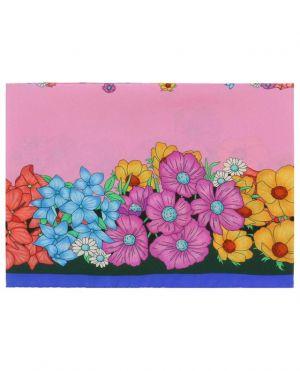 Carré en soie fleurie