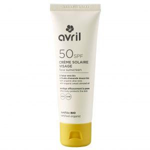 Crème solaire visage SPF 50 50 ml - Certifiée bio