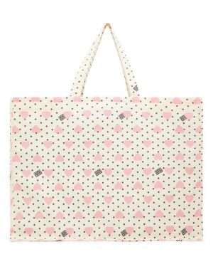 Sac cabas grand formaten toile pour fille Heart