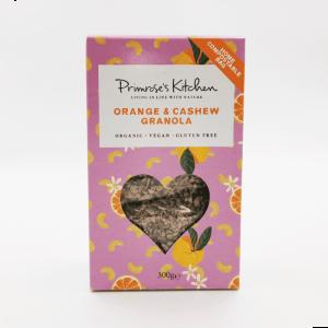Granola orange et cajou