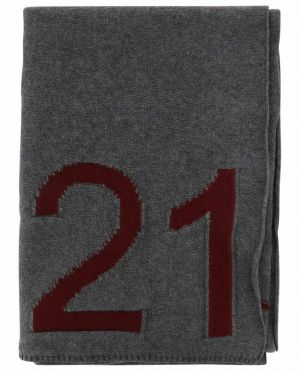 Écharpe en laine vierge avec logo