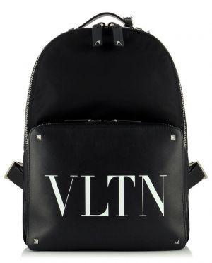 Sac à dos en nylon et cuir VLTN