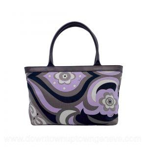 Emilio Pucci tote bag in lilac, grey and black canvas