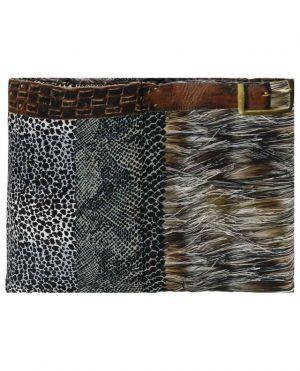 Écharpe rembourrée de duvet imprimée animalier Aloeuw