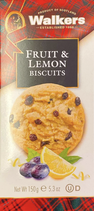 Walkers Fruit & Lemon Biscuits 150g
