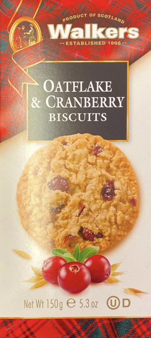 Walkers Oatflakes & Cranberry Biscuits 150g