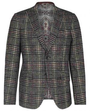 Blazer en jersey doux orné de carreaux prince-de-galles