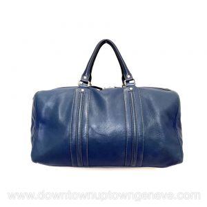 Gucci sport bag in blue leather