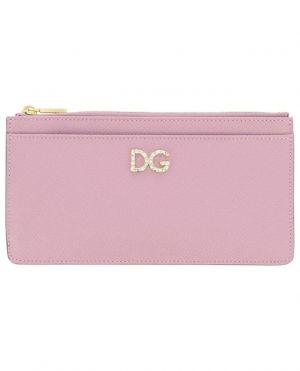 Portemonnaie en cuir dauphine DG Crystal