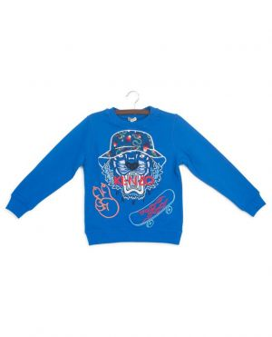 Sweat-shirt brodé tigre et skate-board Dragon Celebration