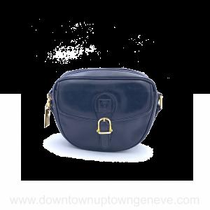 Céline vintage cross-body bag in navy leather