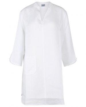 Chemise de nuit en lin à manches trois-quarts Claudine